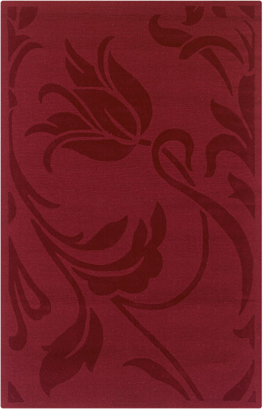 Rizzy Home PL0469 Platoon Hand Loomed New Zealand Wool Rug Red 8 x 10