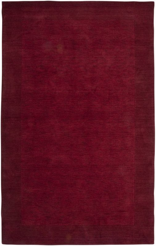 Rizzy Home PL0866 Platoon Hand Loomed New Zealand Wool Rug Red 5 x 8