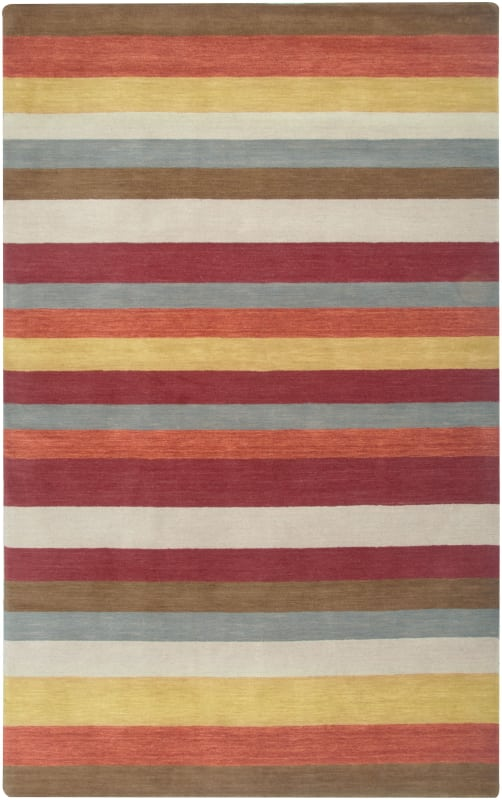 Rizzy Home PL3130 Platoon Hand Loomed New Zealand Wool Rug Red 5 x 8