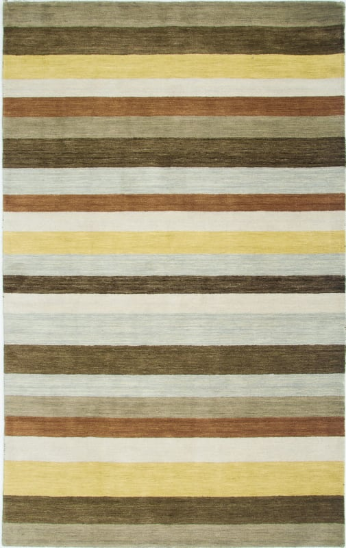 Rizzy Home PL3131 Platoon Hand Loomed New Zealand Wool Rug Brown 8 x