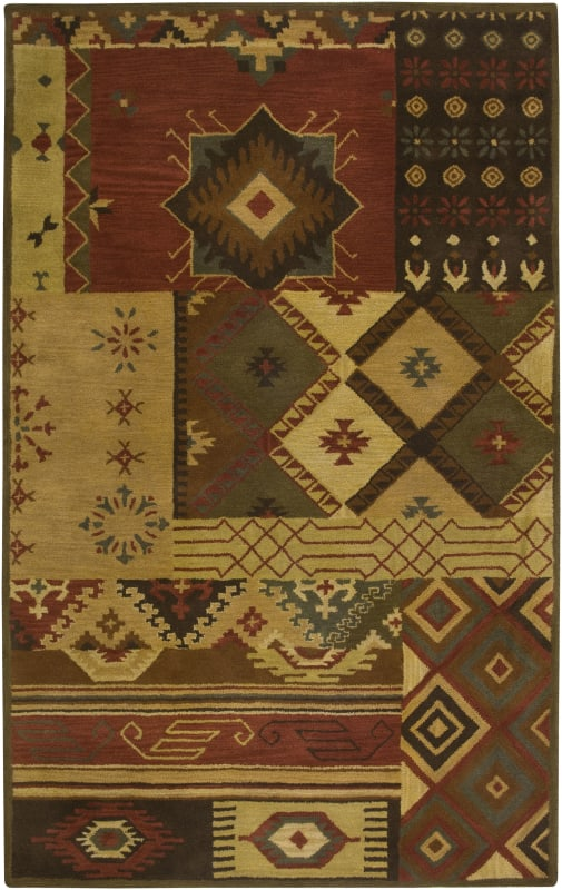 Rizzy Home SU1519 Southwest Hand-Tufted Wool Rug Brown 5 x 8 Home Sale $335.00 ITEM: bci2616979 ID#:SOWSU151900120508 UPC: 844353121209 :