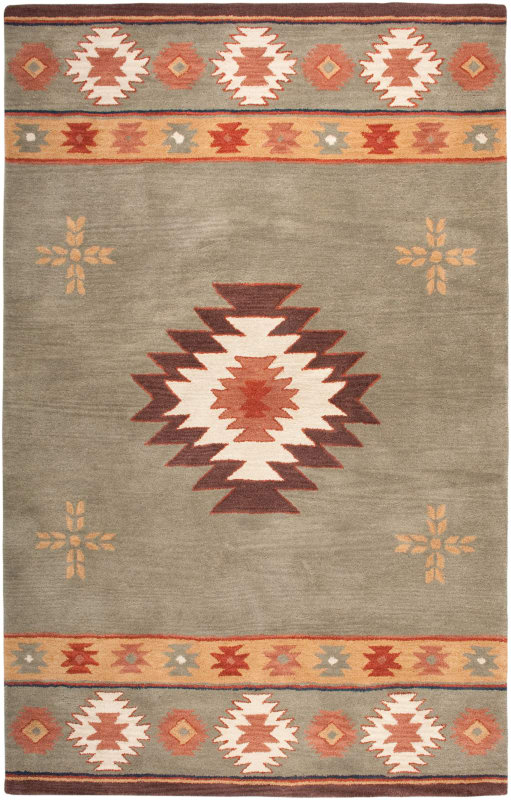 Rizzy Home SU2008 Southwest Hand-Tufted Wool Rug Green 5 x 8 Home Sale $335.00 ITEM: bci2618807 ID#:SOWSU200800300508 UPC: 844353229790 :