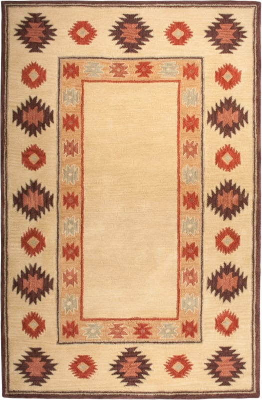 Rizzy Home SU2015 Southwest Hand-Tufted Wool Rug Beige 5 x 8 Home