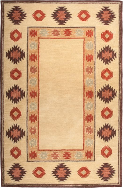 Rizzy Home SU2015 Southwest Hand-Tufted Wool Rug Beige 8 x 10 Home
