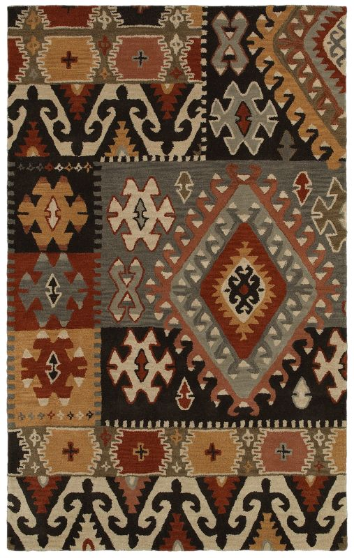 Rizzy Home SU8104 Southwest Hand-Tufted Wool Rug Gray 2 1/2 x 8 Home