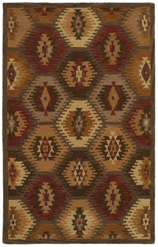 Rizzy Home SU8152 Southwest Hand-Tufted Wool Rug Brown 8 x 10 Home
