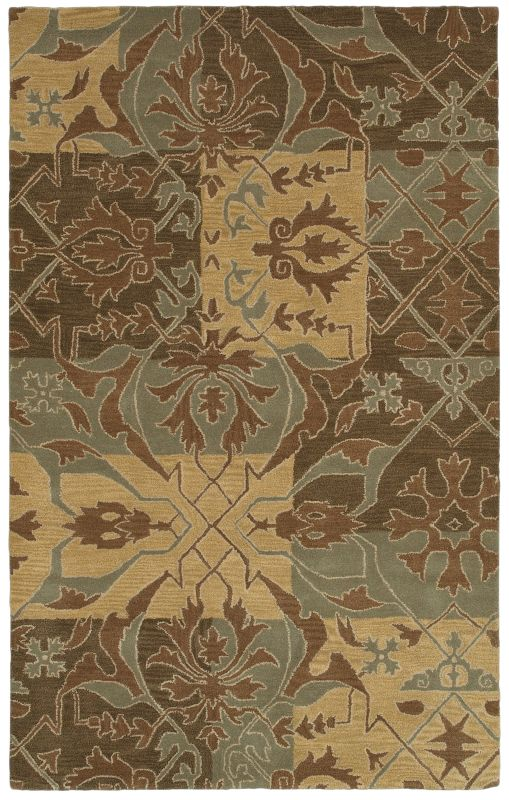 Rizzy Home SU8155 Southwest Hand-Tufted Wool Rug Green 5 x 8 Home Sale $335.00 ITEM: bci2618898 ID#:SOWSU815500300508 UPC: 844353837797 :