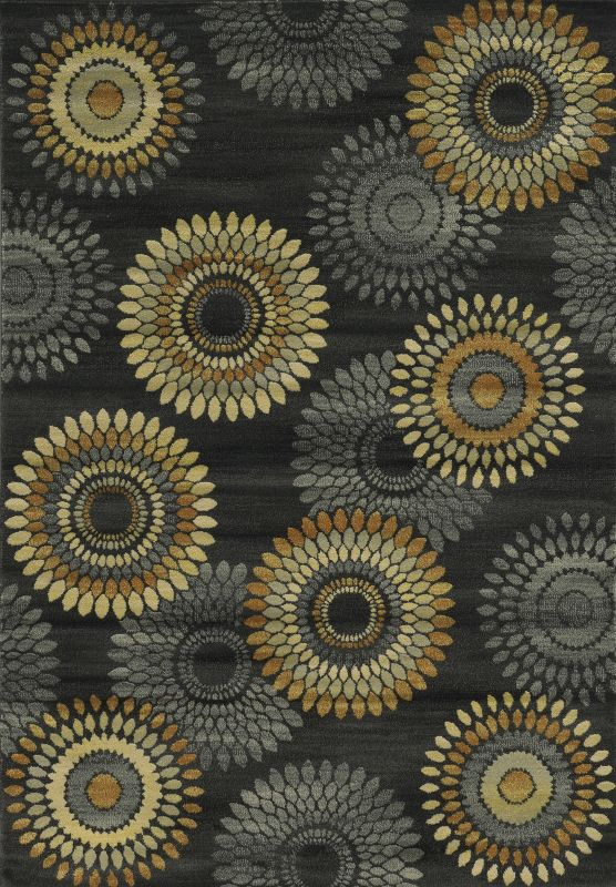 Rizzy Home SO4269 Sorrento Power Loomed Polypropylene Rug Black 7 3/4