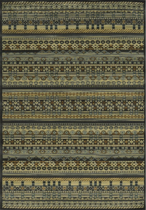 Rizzy Home SO4282 Sorrento Power Loomed Polypropylene Rug Black 3 1/4