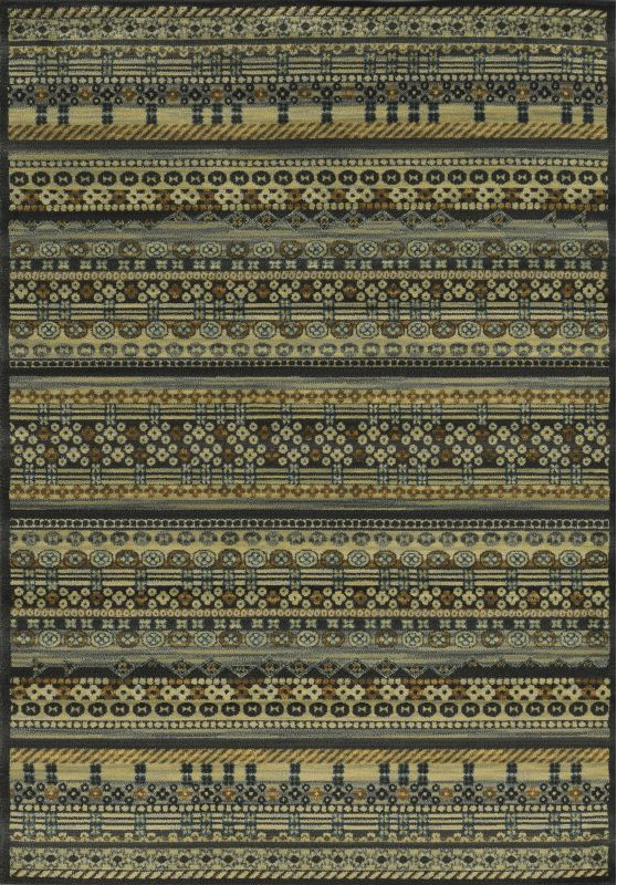 Rizzy Home SO4282 Sorrento Power Loomed Polypropylene Rug Black 9 3/4