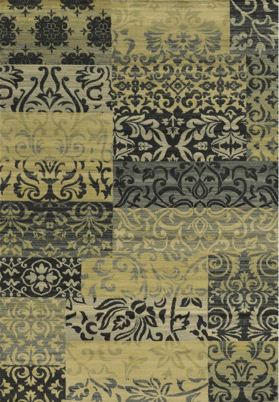 Rizzy Home SO4283 Sorrento Power Loomed Polypropylene Rug Multi 7 3/4