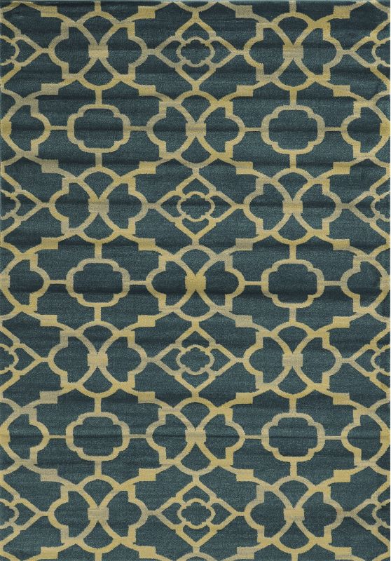 Rizzy Home SO4284 Sorrento Power Loomed Polypropylene Rug Blue 2 1/4