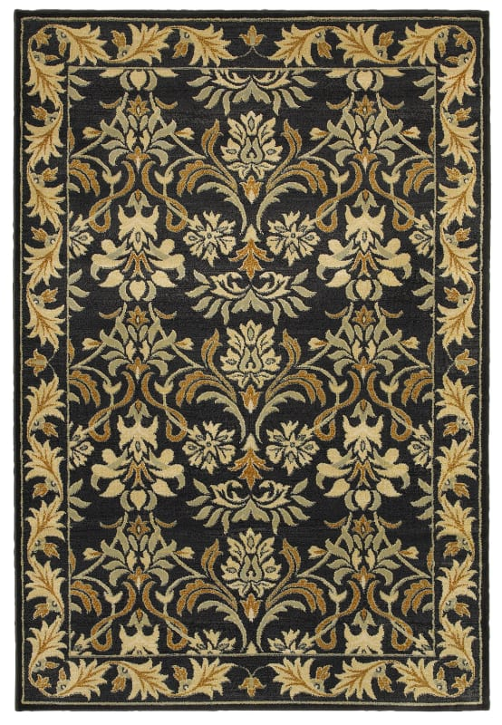 Rizzy Home SO4301 Sorrento Power Loomed Polypropylene Rug Black 3 1/4