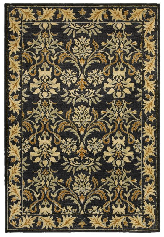 Rizzy Home SO4301 Sorrento Power Loomed Polypropylene Rug Black 7 3/4