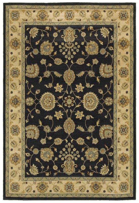 Rizzy Home SO4309 Sorrento Power Loomed Polypropylene Rug Black 5 1/4