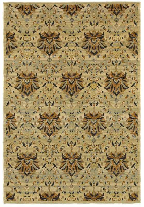 Rizzy Home SO4311 Sorrento Power Loomed Polypropylene Rug Beige 2 1/4