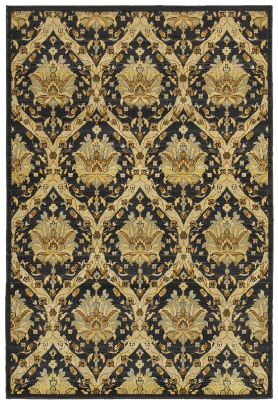 Rizzy Home SO4312 Sorrento Power Loomed Polypropylene Rug Black 6 1/2