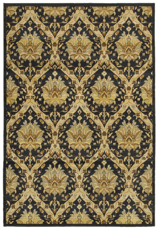 Rizzy Home SO4312 Sorrento Power Loomed Polypropylene Rug Black 7 3/4