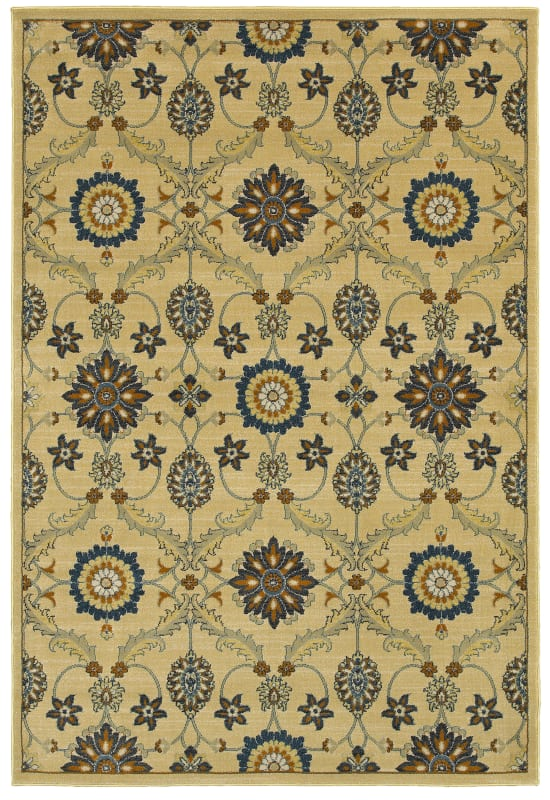 Rizzy Home SO4313 Sorrento Power Loomed Polypropylene Rug Beige 2 1/4