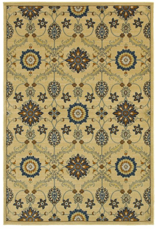 Rizzy Home SO4313 Sorrento Power Loomed Polypropylene Rug Beige 7 3/4