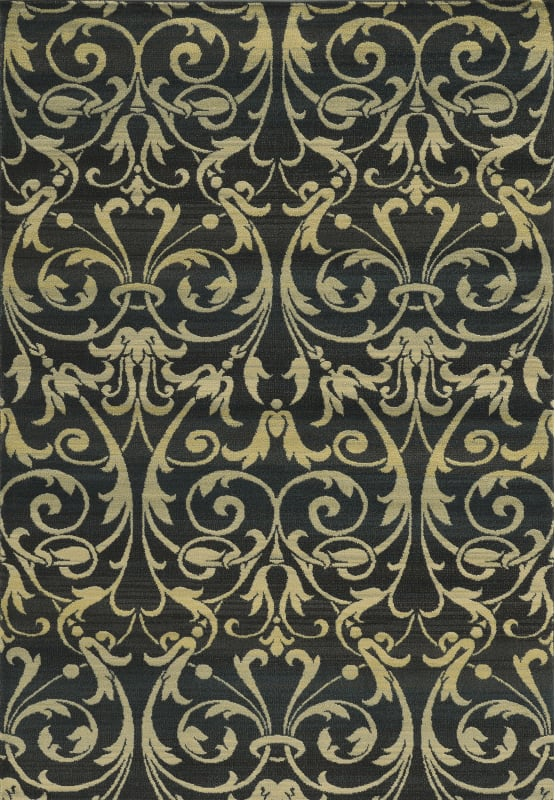 Rizzy Home SO4322 Sorrento Power Loomed Polypropylene Rug Black 5 1/4