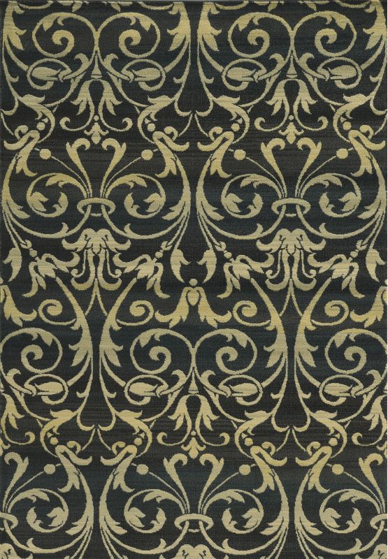 Rizzy Home SO4322 Sorrento Power Loomed Polypropylene Rug Black 6 1/2