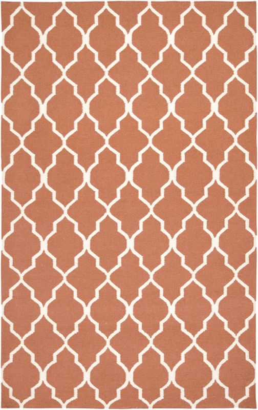 Rizzy Home SG2102 Swing Hand Woven New Zealand Wool Rug Orange 8 x 10