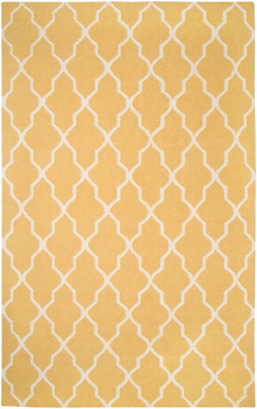 Rizzy Home SG2417 Swing Hand Woven New Zealand Wool Rug Yellow 5 x 8