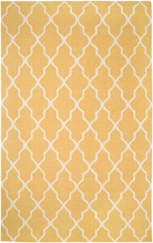 Rizzy Home SG2417 Swing Hand Woven New Zealand Wool Rug Yellow 8 x 10