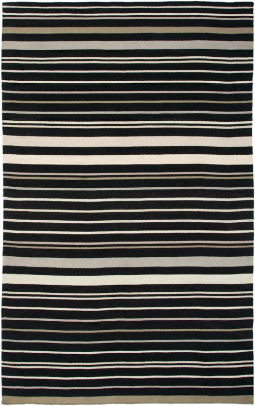 Rizzy Home SG2814 Swing Hand Woven New Zealand Wool Rug Black 3 x 5