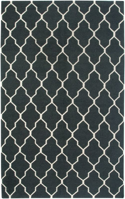 Rizzy Home SG3042 Swing Hand Woven New Zealand Wool Rug Black 5 x 8