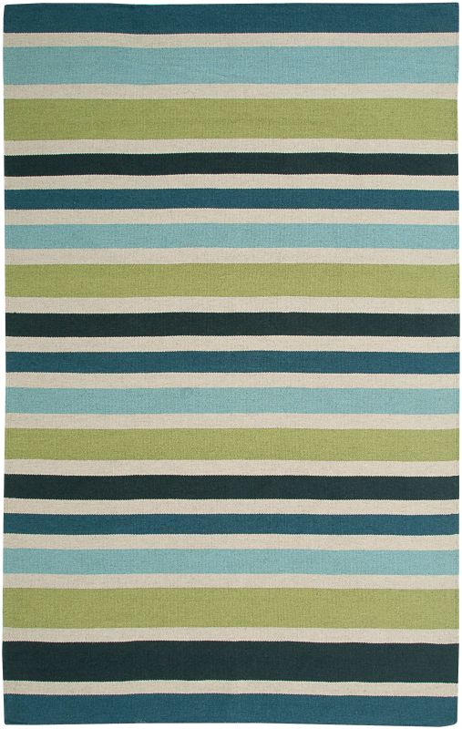 Rizzy Home SG3043 Swing Hand Woven New Zealand Wool Rug Green 2 x 3