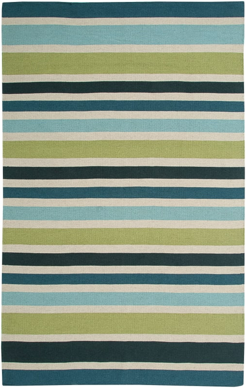 Rizzy Home SG3043 Swing Hand Woven New Zealand Wool Rug Green 5 x 8