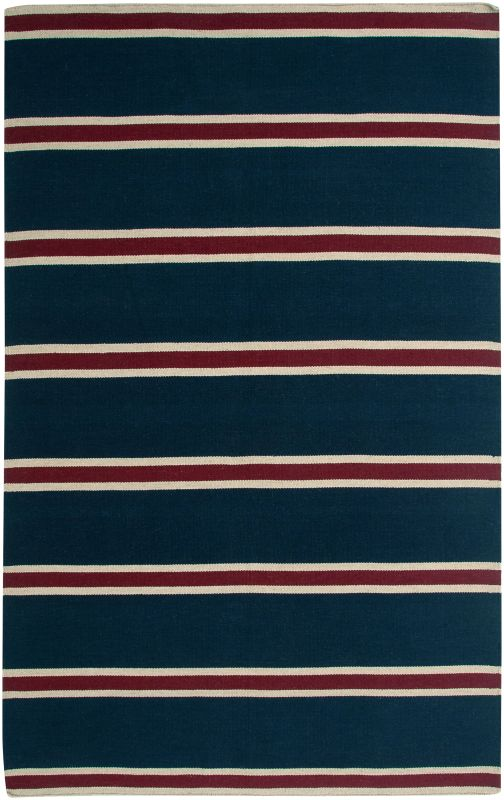 Rizzy Home SG3044 Swing Hand Woven New Zealand Wool Rug Blue 5 x 8