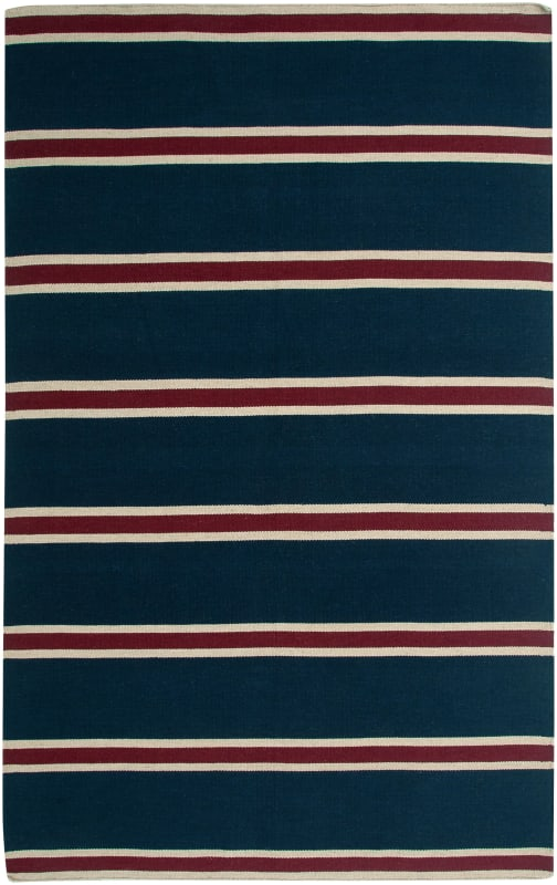 Rizzy Home SG3044 Swing Hand Woven New Zealand Wool Rug Blue 8 x 10