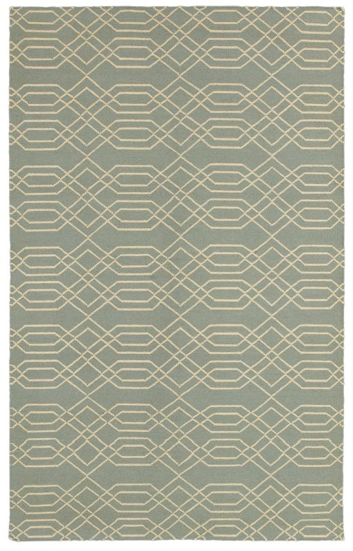 Rizzy Home SG8159 Swing Hand Woven New Zealand Wool Rug Light Blue 2 x