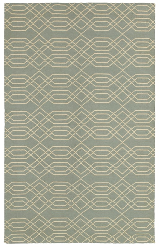 Rizzy Home SG8159 Swing Hand Woven New Zealand Wool Rug Light Blue 5 x