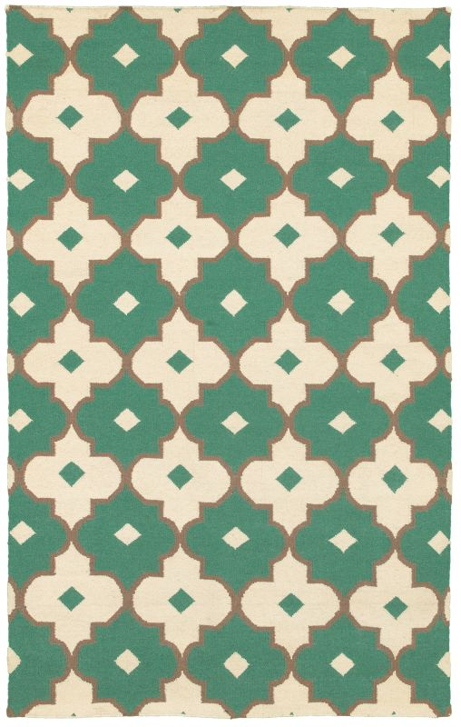 Rizzy Home SG8265 Swing Hand Woven New Zealand Wool Rug Emerald Green