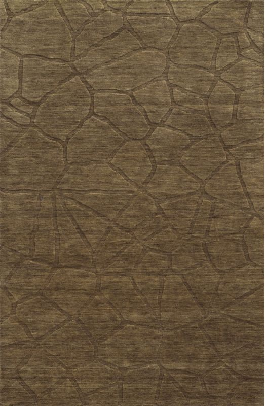 Rizzy Home TC8269 Technique Hand Loomed Wool Rug Brown 9 x 12 Home