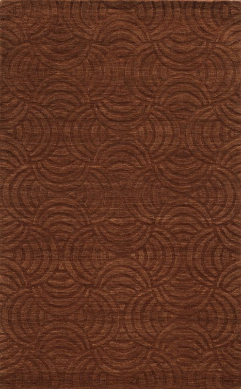 Rizzy Home TC8270 Technique Hand Loomed Wool Rug Rust 5 x 8 Home