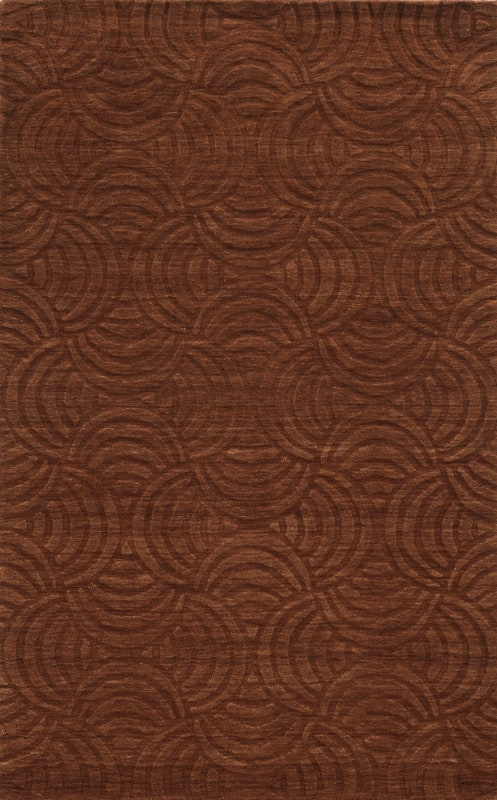 Rizzy Home TC8270 Technique Hand Loomed Wool Rug Rust 8 x 10 Home