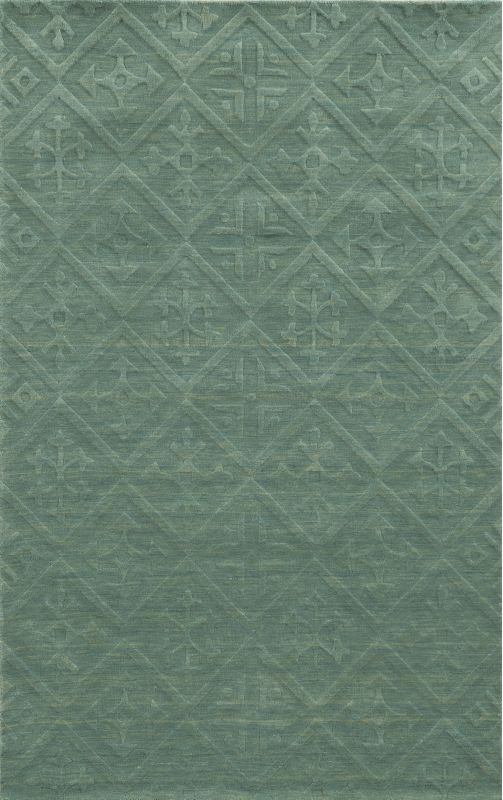 Rizzy Home TC8272 Technique Hand Loomed Wool Rug Teal 5 x 8 Home