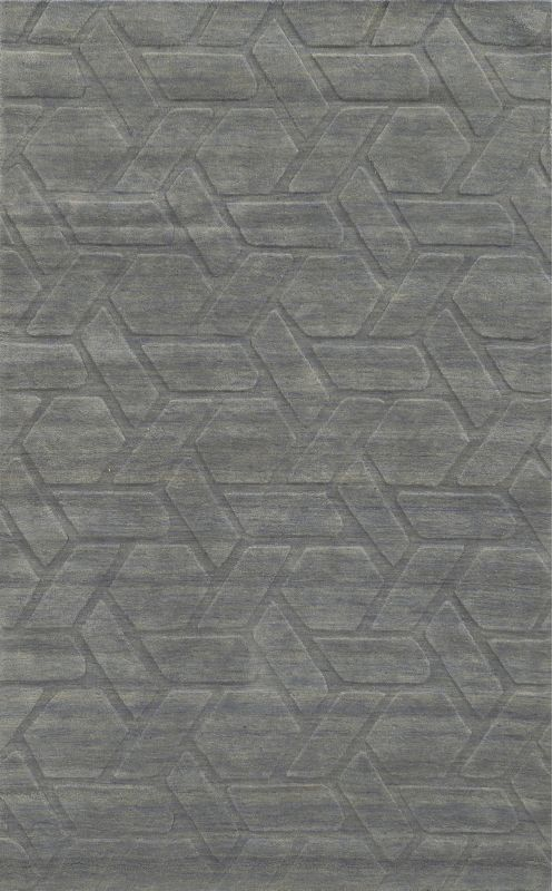 Rizzy Home TC8287 Technique Hand Loomed Wool Rug Gray 8 x 10 Home