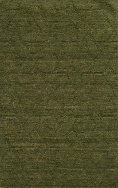 Rizzy Home TC8288 Technique Hand Loomed Wool Rug Green 5 x 8 Home