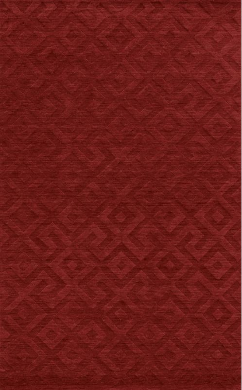 Rizzy Home TC8289 Technique Hand Loomed Wool Rug Red 8 x 10 Home
