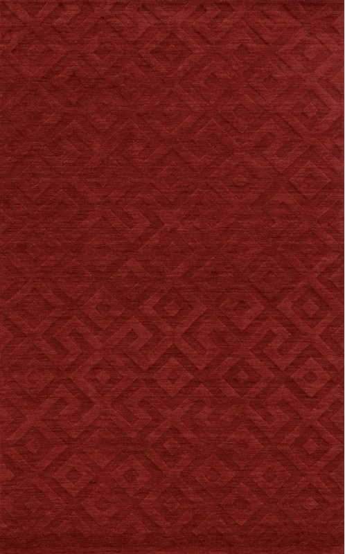 Rizzy Home TC8289 Technique Hand Loomed Wool Rug Red 9 x 12 Home
