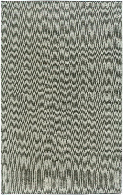 Rizzy Home TW2966 Twist Hand Woven New Zealand Wool Rug Black 5 x 8