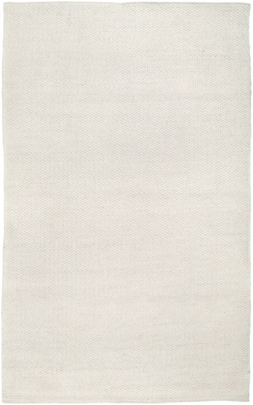 Rizzy Home TW3065 Twist Hand Woven New Zealand Wool Rug White 5 x 8