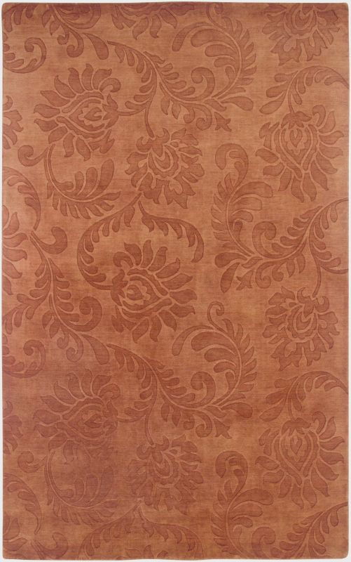 Rizzy Home UP2348 Uptown Hand Loomed New Zealand Wool Rug Rust 3 1/2 x