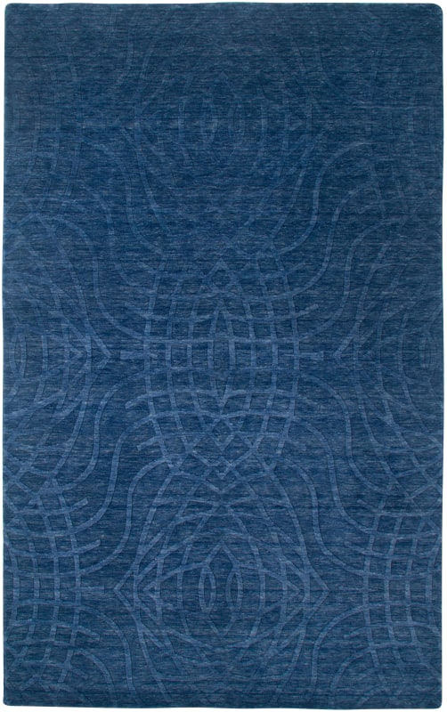 Rizzy Home UP2439 Uptown Hand Loomed New Zealand Wool Rug Indigo Blue